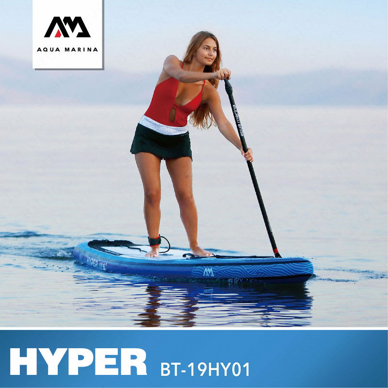 AQUA MARINA HYPER Surf Board Surfing Board Stand Up Paddleboard Inflatable SUP Paddle Board SUP Board For Surfing 350*79*15CM image