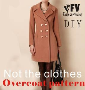 Clothing Diy Overcoat Pattern Coat Sewing Template Cutting