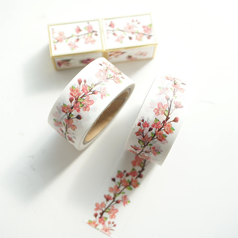 Early Sakura Tree Washi Tape Adhesive Tape DIY Scrapbooking Sticker Label Masking Tape