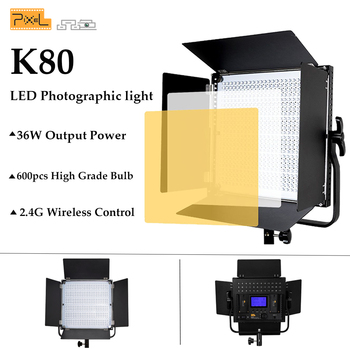 Pikseli K80 600 sztuk światło led do kamery 5600 oświetlenie fotograficzne profesjonalny bezprzewodowy sterowania dla lampa studyjna YouTube nagrywanie wideo