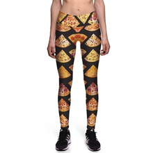 Fitness Leggings Sexy New Leggings Symmetrical pizza 3D Print Women High waist Pants Trousers Ropa Mujer Plus Size