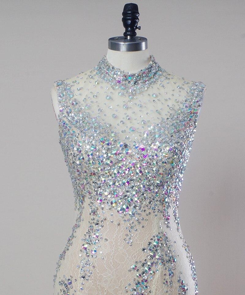 Luxury Bead Robe Rhinestone Long Glitter Mermaid Gowns Stone Great ...
