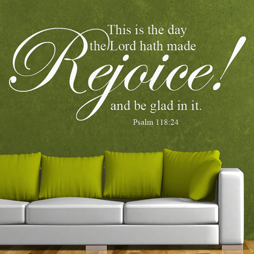 Elegant This Is The Day The Lord Hath Made Rejoice Scripture Wall Words Bible Verse  Vinyl Home Decor 18 Part 32