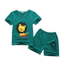 Boys Clothing Sets Summer Baby Boys Clothes Top Shirt +Pants 2pcs Clothes for Boys Summer Set Toddler Boy Clothes Kids Costume cheap Unini-yun Fashion O-Neck Pullover COTTON Unisex Short REGULAR Fits true to size take your normal size Coat cartoon Children