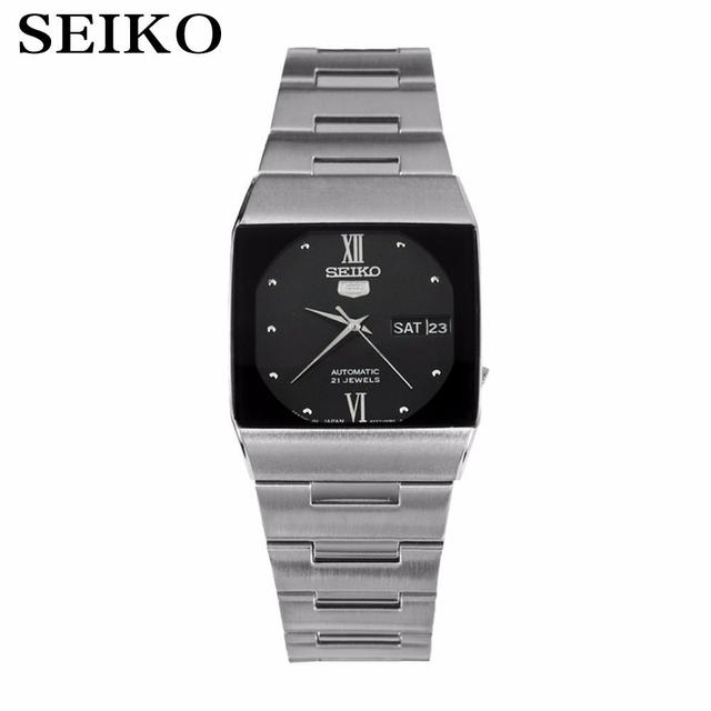 bb84ab3b262 Seiko 5 automatic mechanical movement Men s watch square black dial  SNY011J1 made in Japan