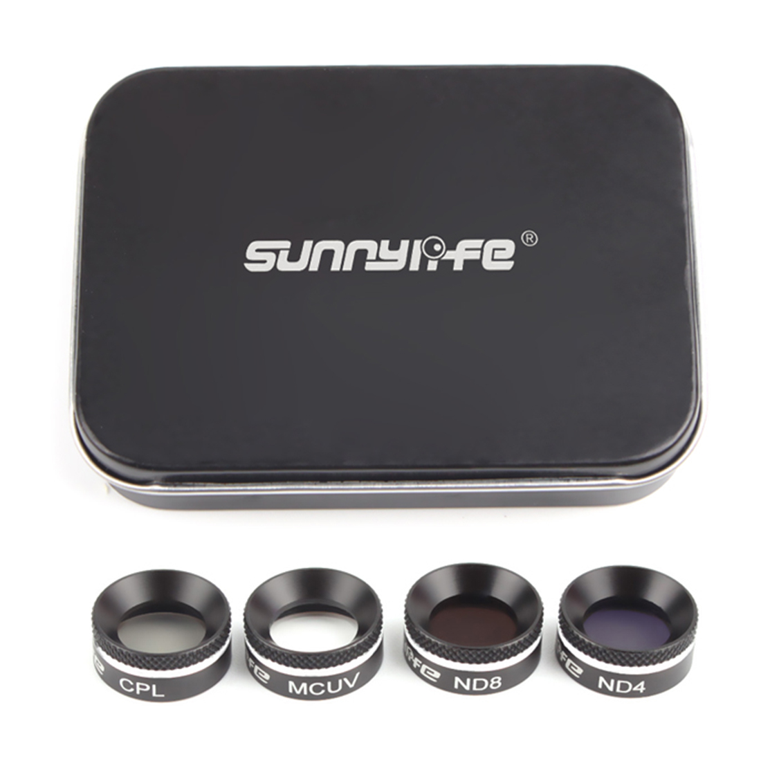 купить Sunnylife 4Pcs MCUV+CPL+ND4+ND8 ND4+ND8+ND16+ND32 Filter Set Multifunctional Filter for DJI Mavic Air Drone Accessories по цене 1990.97 рублей