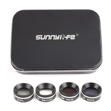 Sunnylife 4Pcs MCUV+CPL+ND4+ND8 ND4+ND8+ND16+ND32 Filter Set Multifunctional Filter for DJI Mavic Air Drone Accessories