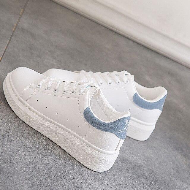 e3c33fc05 Com desconto Mulheres Casuais Sapatos de Plataforma Plana Tênis ...