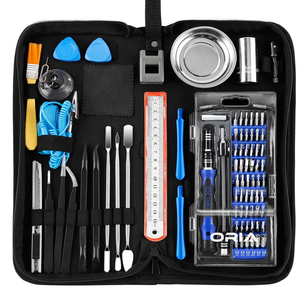 ORIA Precision Screwdriver Set Repair Tool Kit 84 in 1 Magnetic Screwdriver Set iPad iPhone PC Watches Professional Driver Kit