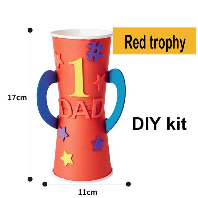 Maternelle lots artisanat bricolage jouets papa trophée/médaille artisanat enfants éducatifs pour enfants jouets cadeau fille/garçon cadeau de noël