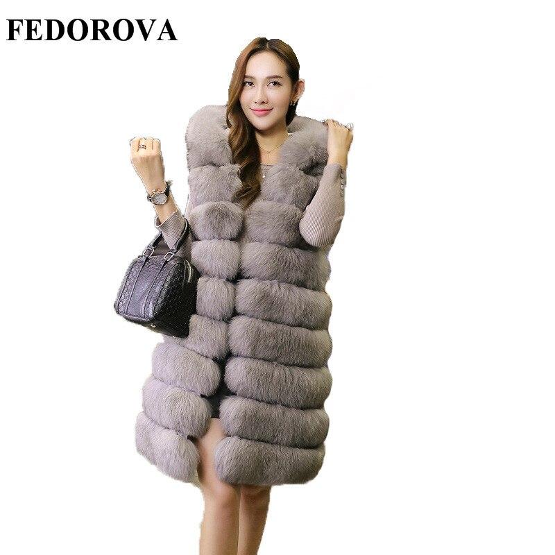 Fur coat female new style 2017 medium long super Dalian hat thickening vest imitation mink hair