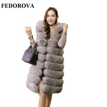 Fur coat female new style 2017 medium long super Dalian hat, thickening vest, imitation mink hair women's clothing