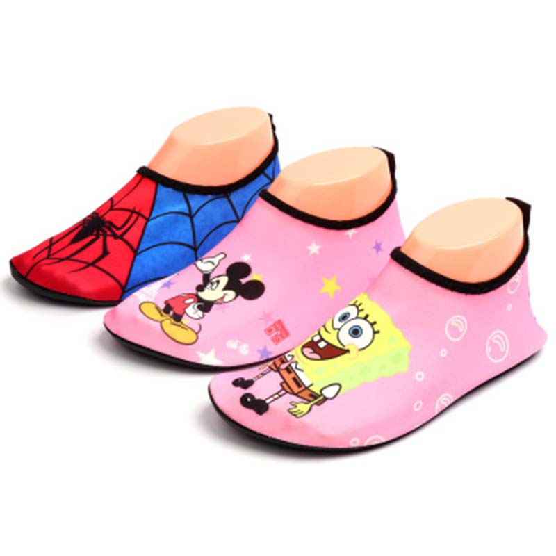 Candomom Children Canvas Beach Shoes Fast Drying For Mickey Spider Kids' Sneakers Children Diving Beach Shoes For 1-3 Years Old