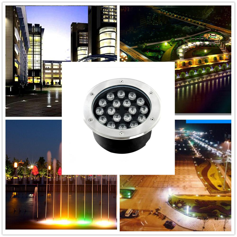 LumiParty 18W IP67 Super Beauty LED Buried Light Circular Underground Light Landscape Lamp Path Way Garden Lawn Decoration guarranteed 100% free dhl shipping inground lamp ip67 garden path landscape light 5x3w 3in1 rgb led underground light