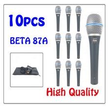 Gratis frakt Högkvalitativ BETA87A Karaoke Vocal Wired Cardioid Dynamisk Mikrofon Mike Mic För BETA87A Professionell Mikrofon
