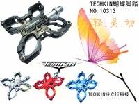 10313 techkin бабочка футов / пэй лин магний-алюминиевый сплав / 3 подшипника педаль