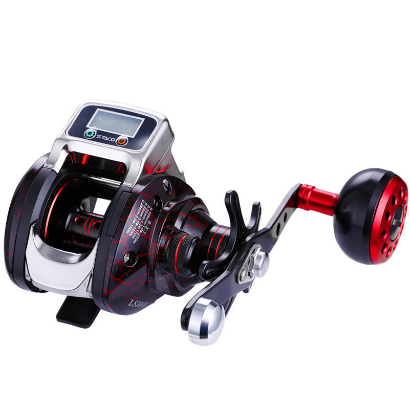 YUYU Fishing Reel Baitcasting Reel counter in meter 6.3:1 Digital reel Full Metal spool SaltWater Wheel Trolling Coil Drag 5kg