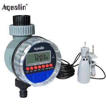 Садовый автоматический шаровой кран таймер воды домашний водонепроницаемый Полив Таймер орошения контроллер 21026A и датчик дождя 21103 # 21026R