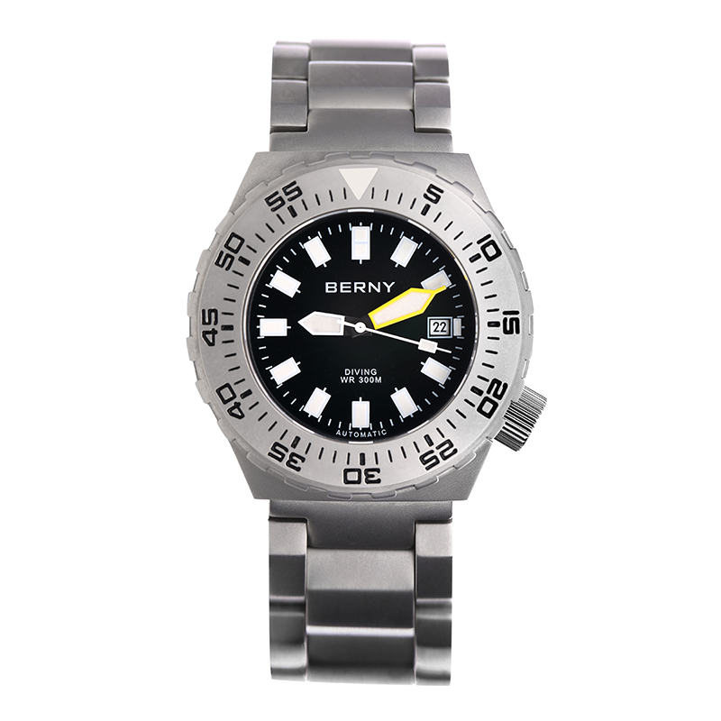 Japan Miyota Automatic Relogio Masculino For Diving 300meters Water Resistant All Stainless Steel Mens Wirstwatch BERNY