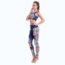 Девушку костюм комплект Йога одежда тренажерный зал Фитнес спортивный бюстгальтер Бег Леггинсы дышащая быстросохнущая бразильский Стиль SCL167