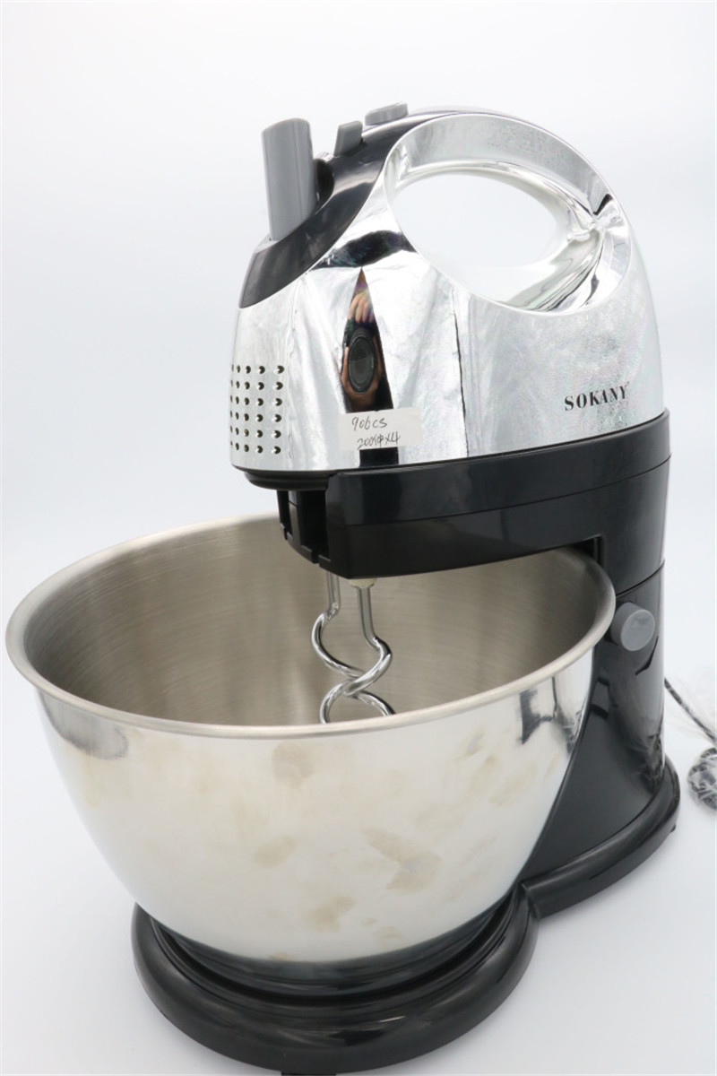 300W Electric Table Dough Mixer Handheld Egg Beater Blender For Baking Egg Mixer with Bowl Automatic Kitchen Stand dough maker