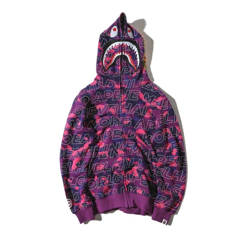 Bape shark hoodie sweatshirt camo thin bathing ape