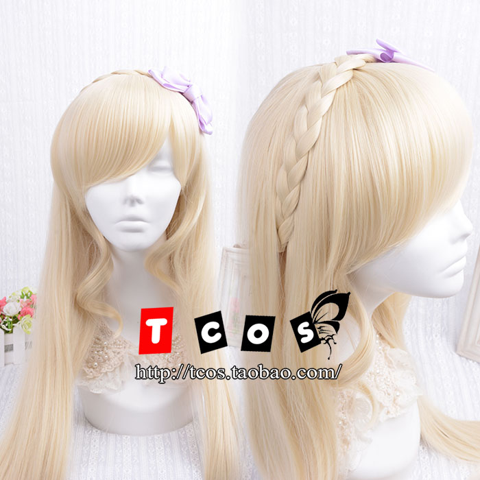 ФОТО Danganronpa 2: Goodbye Despair Cosplay Sonia Nevermind 100cm/39.4'' Long Straight Hair  Wig