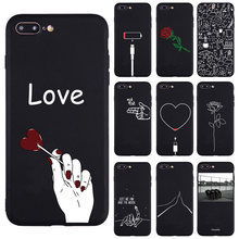 Modern Art Simple Line Hand Rose Girl Body Soft Silicon case For iPhone 6 6s Plus X 7 8 Plus 5s SE XS Max XR Phone Cover Case(China)