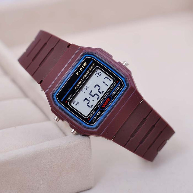 Fashion Sport Watch For Men Women Kids Colorful Electronic Led Digital Watches Multifunction Jelly Wristwatch Clock Hour 2018
