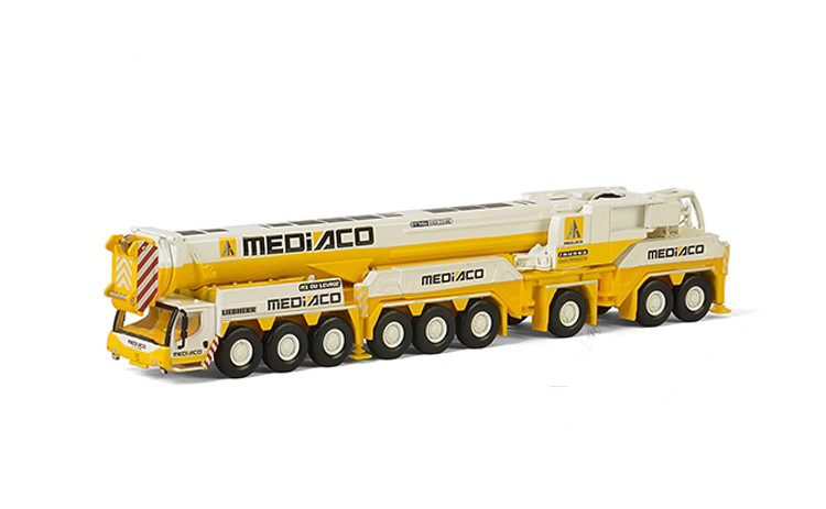 WSI 1:87 Liebherr 71-2007 LTM1750-9.1 Off-Road Crane Mediaco Engineering Machinery Diecast Toy Model For Collection,Decoration