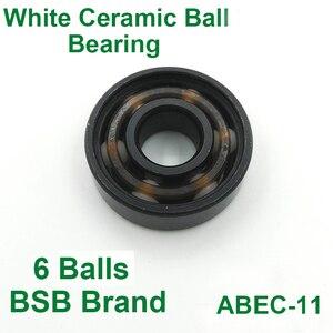 Image 5 - 16pc Abec11 Original BSB Swiss Speed Bearing 608 White Ceramic Balls Inline Skate Roller Skates Skateboard BSB Bearings Ceramica