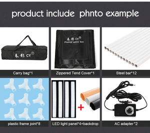 Image 5 - CY 100 cm תמונה סטודיו LED רך תיבת ירי תמונה אור אוהל סט + 3 תפאורות + דימר מתג בגדי ילדים shoting אוהל ערכות