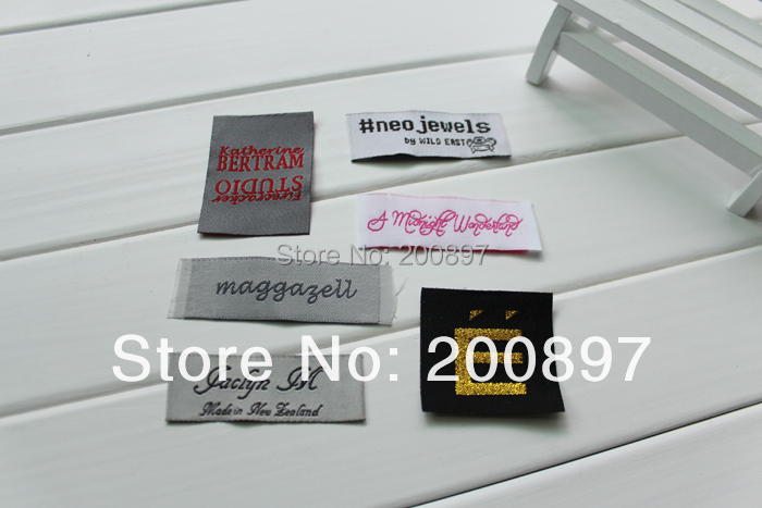 custom sewing label cloth label with logo garment labels separate cut or folded 1000pcs lot