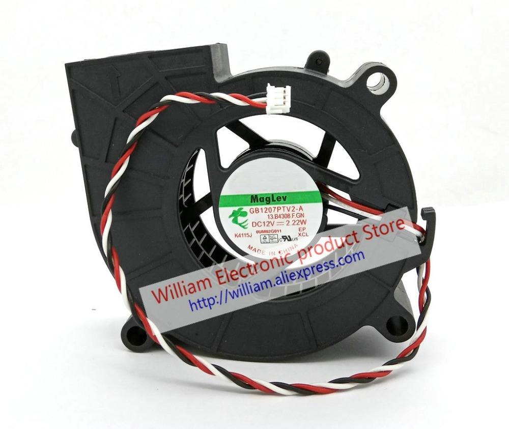 New Original  GB1207PTV2-A F.GN DC12V 2.22W 70*25MM 3 Lines Tachometer Signal for Projector blower cooling fan  FONSONNING