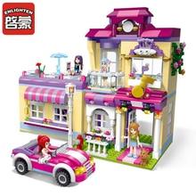 ENLIGHTEN City Girls Princess Star Training House Building Blocks Sets Bricks Model Kids Gift Toys Compatible Legoes Friends