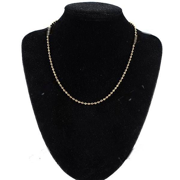 5dfd20887fc9b Moblin Stylish Gold Plating Ball Style Necklace Neck Chain Clavicle ...