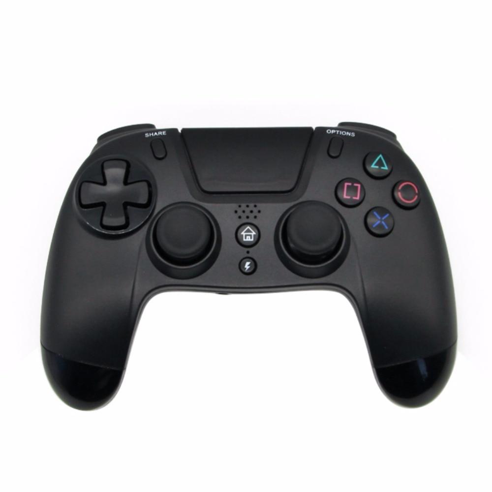 Manette Bluetooth sans fil double Vibration 6 Axies contrôleur sans fil noir ABS pour manettes PS4 manettes Bluetooth