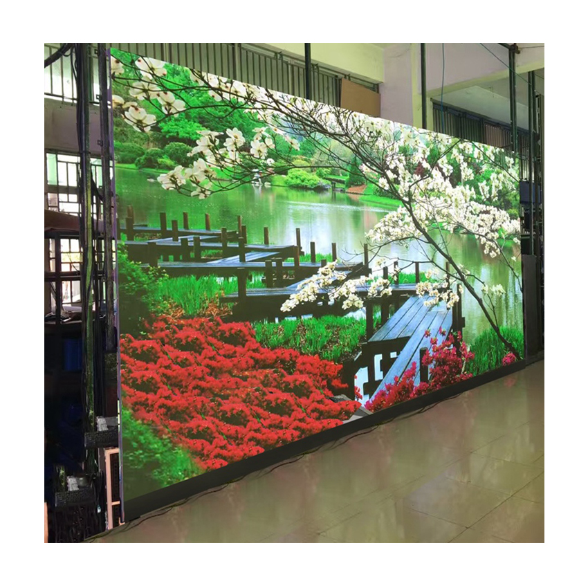 Led Video Wall Billboard Screen Panel, P5 SMD3528 1/16scan Indoor LED Display Rgb Module 320*160mm 64*32pixels For Advertising
