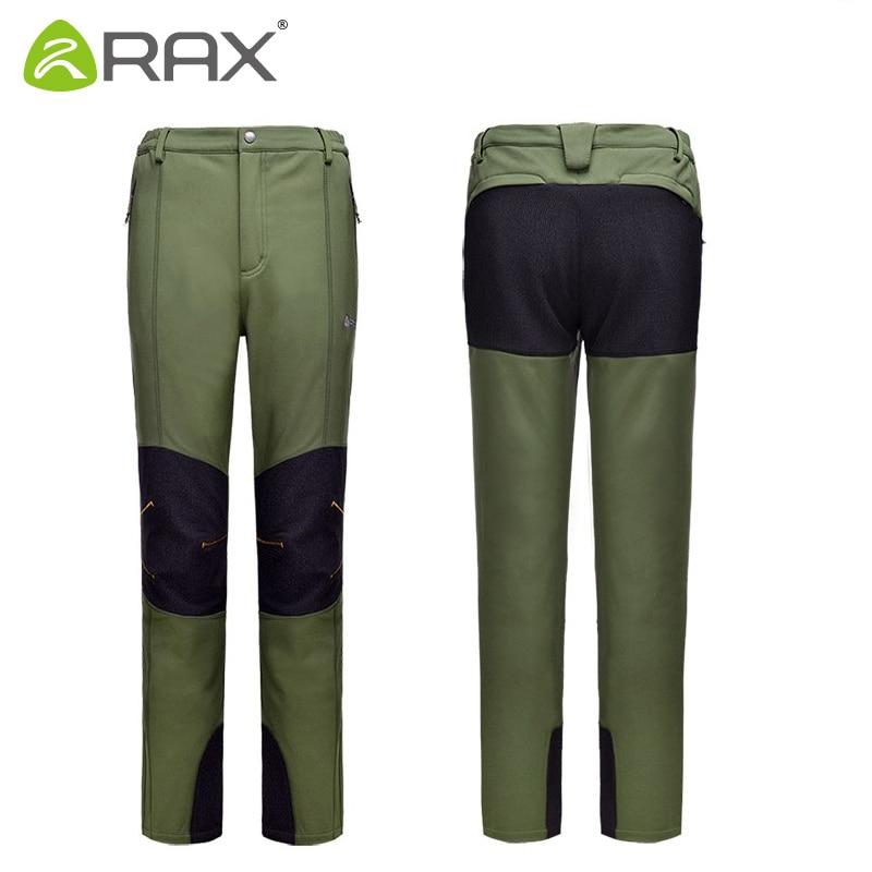 RAX Ourdoor Pants Men Surface Waterproof Hiking Pants Men Windproof Fleece Camping Softshell Trekking Pants Men Pantalon Hombre unbranded 2015 b men pants