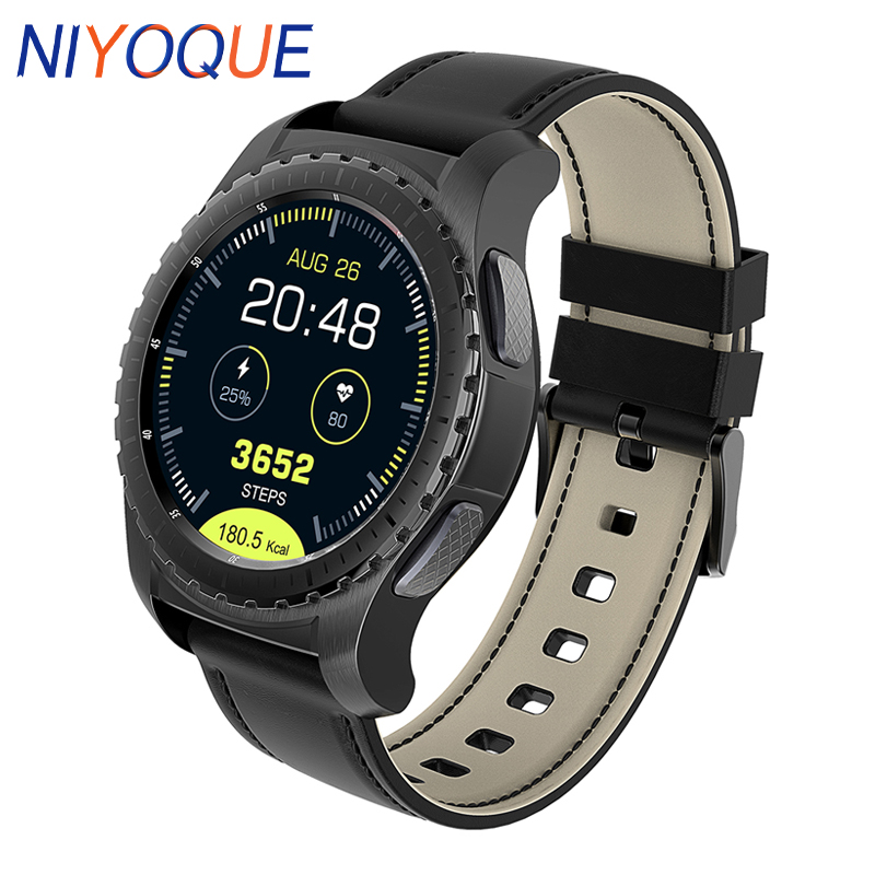 NIYOQUE Smartwatch Phone Heart Rate Monitor Smart Watch 1.3 inch Sedentary Reminder Anti-lost Remote Camera Wristwatch z4 smartwatch android ios compatible ip67 waterproof heart rate monitor smart watch sedentary reminder pedometer remote camera