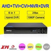 1080 P 2MP Камеры Скрытого видеонаблюдения Blue-Ray случае xmeye 6 в 1 25fps 4 канала 4CH Гибридный коаксиальный NVR CVI TVI AHD DVR Бесплатная доставка