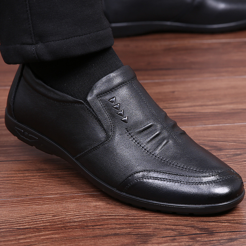 D'affaires Souple Mode Homme Chaussures Hommes En De Slip Formelle Casual Britannique Bout On Style Rond Mâle jaune Aa52001 marron Cuir Noir Richelieus 8EqawrEAn