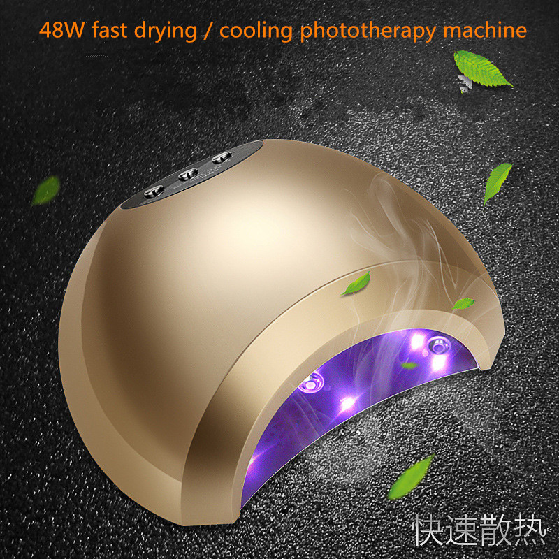 Fast Dryer Led Nail Lamp 48W intelligent sensor double light LED UV Lamp Machine nails Polish Gel Sunlight therapy baking lamps