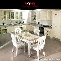 Французский кухонный шкаф белого цвета