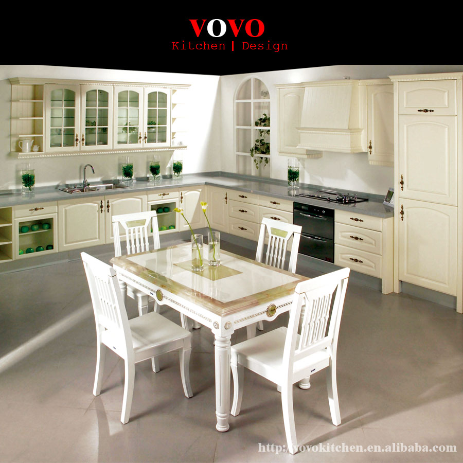 French White Kitchen Cabinets: French Kitchen Cabinet In White Color-in Kitchen Cabinets