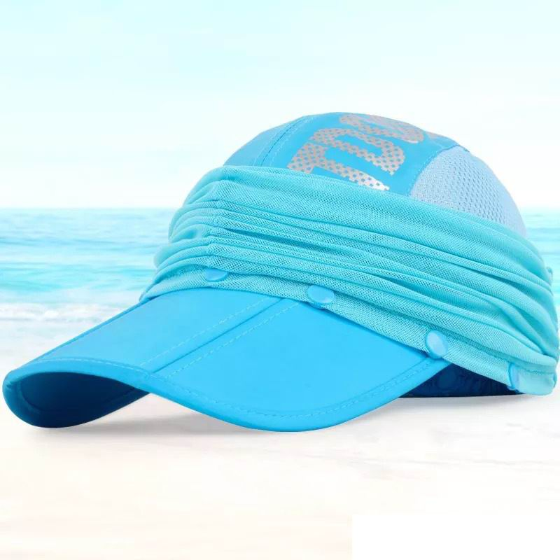 89d5e152ca3 2017 unisex full protection hat two wear baseball cap neck face female  sunhat summer sun screen caps cool breathable