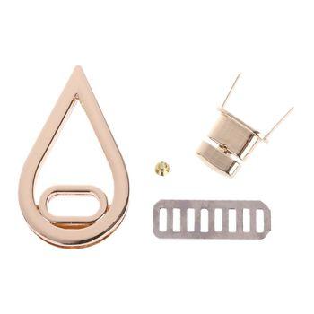 THINKTHENDO kropla wody kształt zapięcie Turn Lock Twist zamki DIY skórzana torebka torba sprzętu złota torba akcesoria 3.3x5.7cm