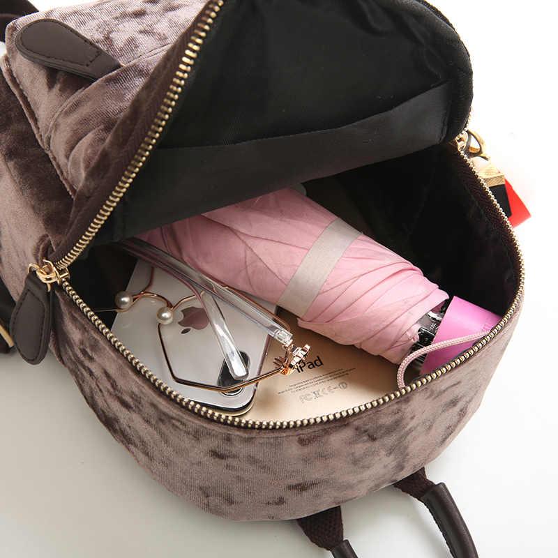 04e7cc0bea ... LEFTSIDE Mini Velvet Backpack Bag Female Cute Backpacks High Quality  Back Pack For Girls Gift Women s