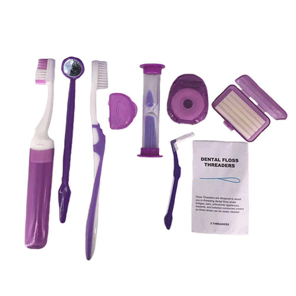 Toothbrush Interdental Brush Dental Orthodontic Braces Brackets Oral Care Suite Cleaning Complete Kit Oral Hygiene Supply image