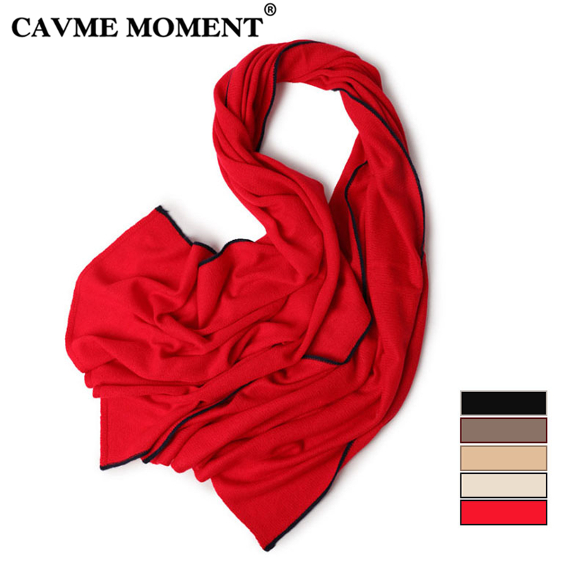 CAVME 2019 Soft Cashmere   Scarf   Luxury 100% Knitted Cashmere   Scarves   Unisex Solid Color Long   Scarf     Wraps   Shawls 65*190cm 165g